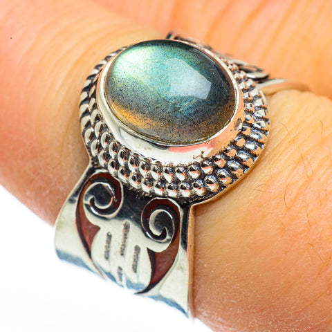 Labradorite Rings handcrafted by Ana Silver Co - RING45972