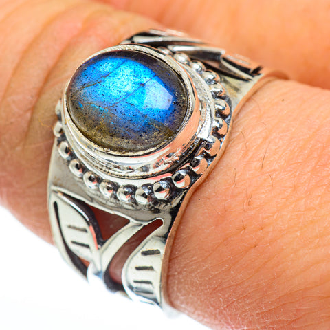 Labradorite Rings handcrafted by Ana Silver Co - RING46055