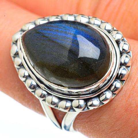 Labradorite Rings handcrafted by Ana Silver Co - RING46058