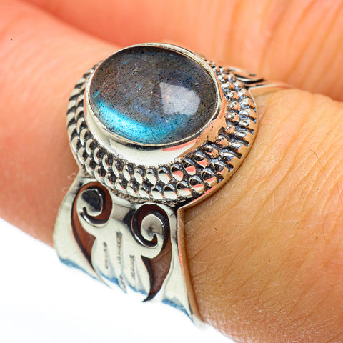 Labradorite Rings handcrafted by Ana Silver Co - RING46071