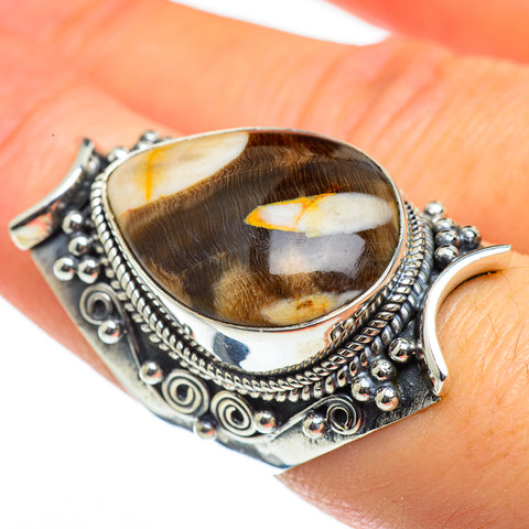 Peanut Wood Jasper Rings handcrafted by Ana Silver Co - RING46186