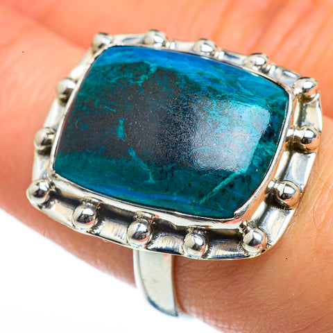 Chrysocolla Rings handcrafted by Ana Silver Co - RING46224