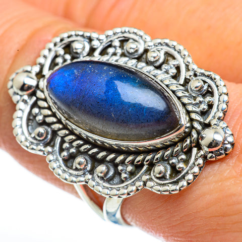 Labradorite Rings handcrafted by Ana Silver Co - RING46234