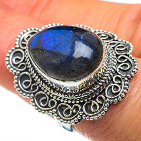 Labradorite Rings handcrafted by Ana Silver Co - RING46237