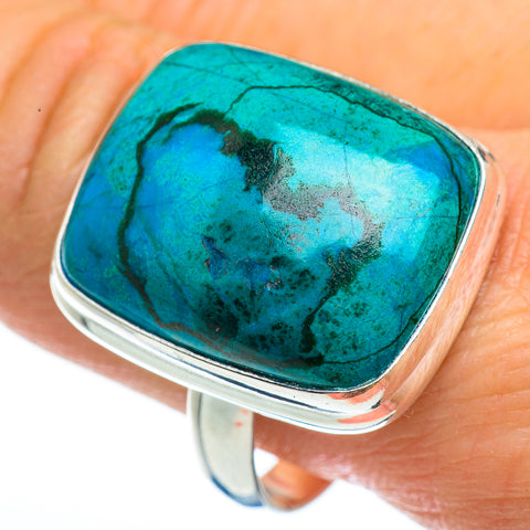Chrysocolla Rings handcrafted by Ana Silver Co - RING46257