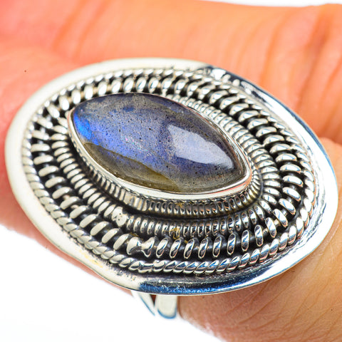 Labradorite Rings handcrafted by Ana Silver Co - RING46272