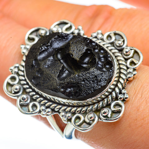 Tektite Rings handcrafted by Ana Silver Co - RING46284