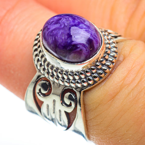 Charoite Rings handcrafted by Ana Silver Co - RING46338