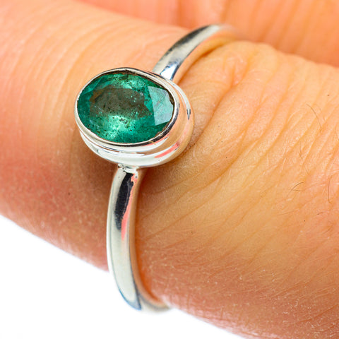 Zambian Emerald Rings handcrafted by Ana Silver Co - RING46357