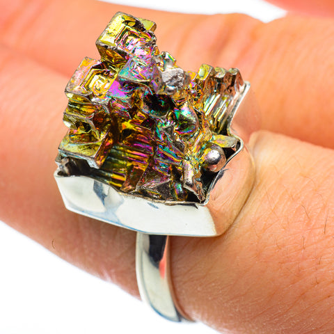 Bismuth Crystal Rings handcrafted by Ana Silver Co - RING46405