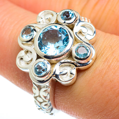 Blue Topaz Rings handcrafted by Ana Silver Co - RING46409