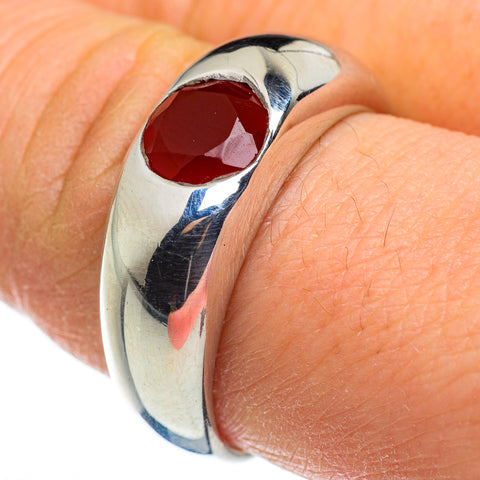 Red Onyx Rings handcrafted by Ana Silver Co - RING46424