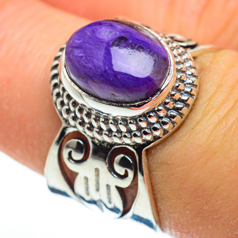 Charoite Rings handcrafted by Ana Silver Co - RING46455