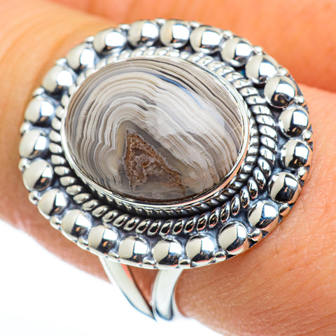 Laguna Lace Agate Rings handcrafted by Ana Silver Co - RING46457