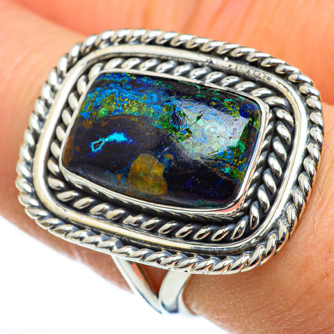 Azurite Rings handcrafted by Ana Silver Co - RING46459
