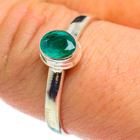 Zambian Emerald Rings handcrafted by Ana Silver Co - RING46502