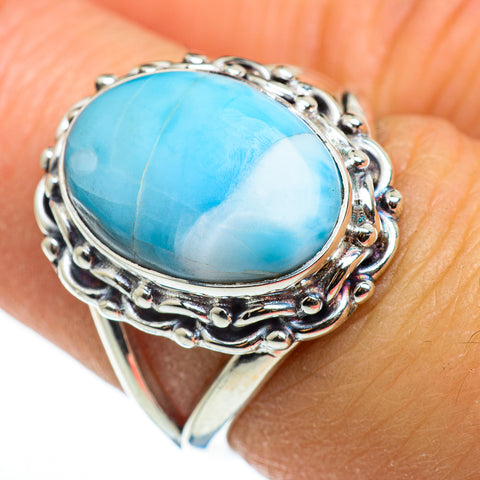 Larimar Rings handcrafted by Ana Silver Co - RING46525