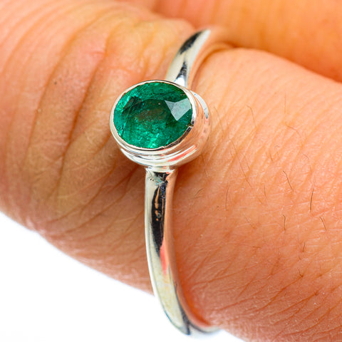 Zambian Emerald Rings handcrafted by Ana Silver Co - RING46530