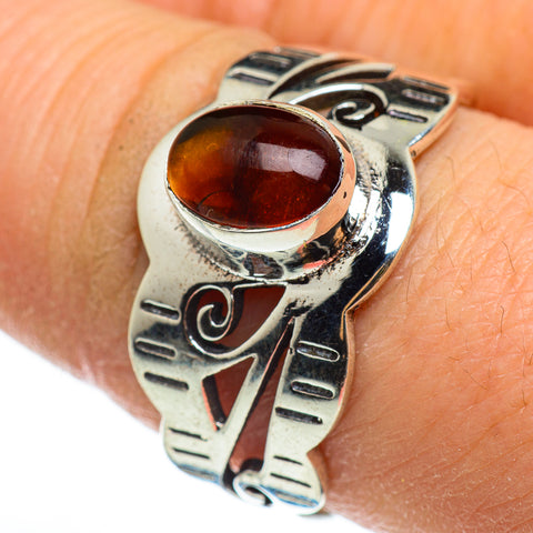 Baltic Amber Rings handcrafted by Ana Silver Co - RING46538