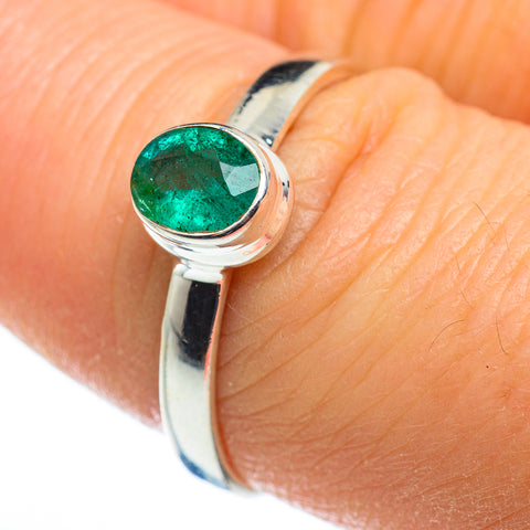 Zambian Emerald Rings handcrafted by Ana Silver Co - RING46586