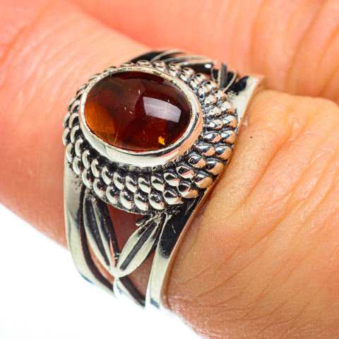 Baltic Amber Rings handcrafted by Ana Silver Co - RING46625