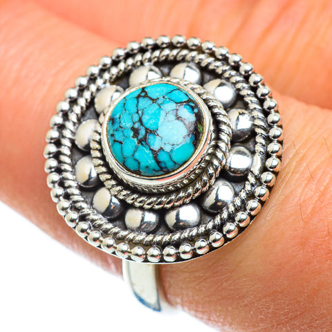 Tibetan Turquoise Rings handcrafted by Ana Silver Co - RING46630