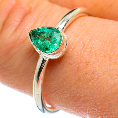 Zambian Emerald Rings handcrafted by Ana Silver Co - RING46634