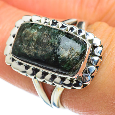 Seraphinite Rings handcrafted by Ana Silver Co - RING46635