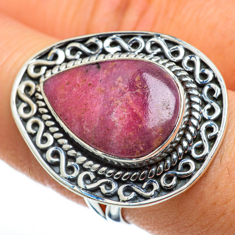 Rhodonite Rings handcrafted by Ana Silver Co - RING46674