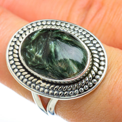 Seraphinite Rings handcrafted by Ana Silver Co - RING46819