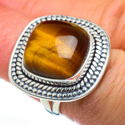 Tiger Eye Rings handcrafted by Ana Silver Co - RING46822