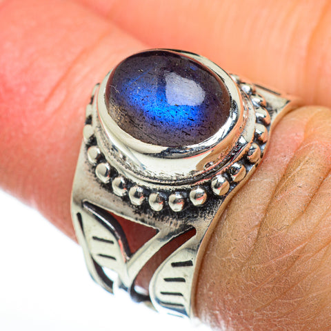 Labradorite Rings handcrafted by Ana Silver Co - RING46844