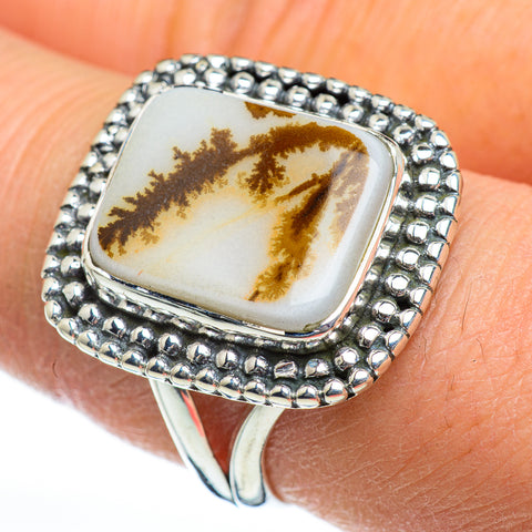 Scenic Dendritic Agate Rings handcrafted by Ana Silver Co - RING46859