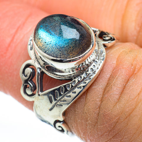 Labradorite Rings handcrafted by Ana Silver Co - RING46862
