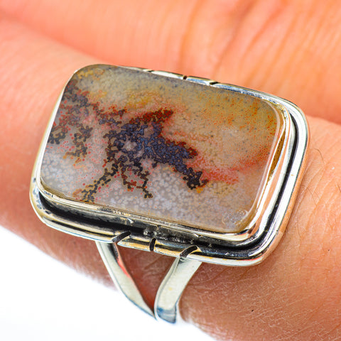 Scenic Dendritic Agate Rings handcrafted by Ana Silver Co - RING46871