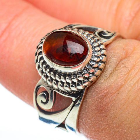 Baltic Amber Rings handcrafted by Ana Silver Co - RING46874