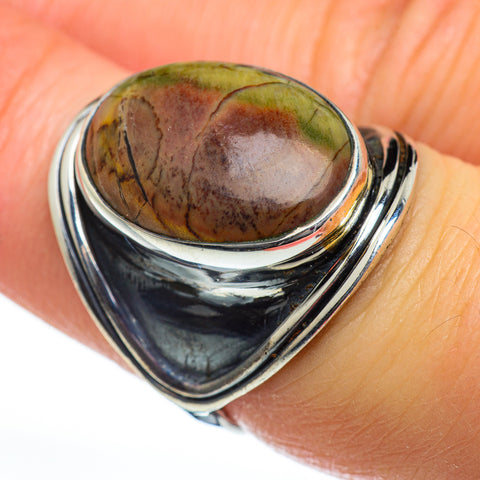 Willow Creek Jasper Rings handcrafted by Ana Silver Co - RING46917