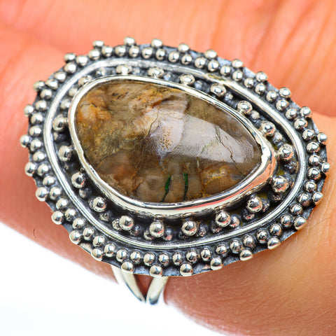 Petrified Wood Rings handcrafted by Ana Silver Co - RING46918