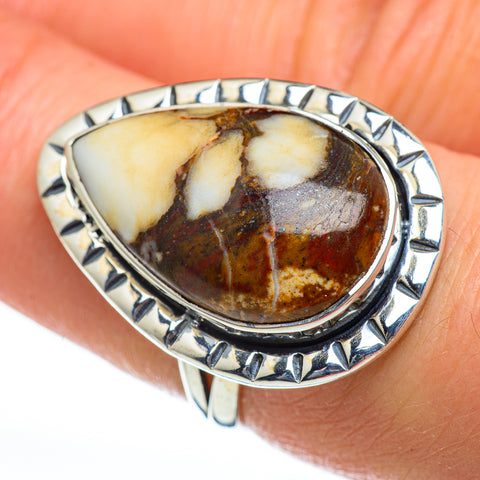 Peanut Wood Jasper Rings handcrafted by Ana Silver Co - RING46938