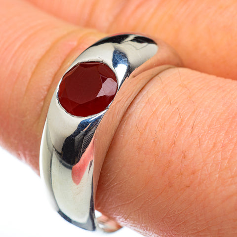 Red Onyx Rings handcrafted by Ana Silver Co - RING46940