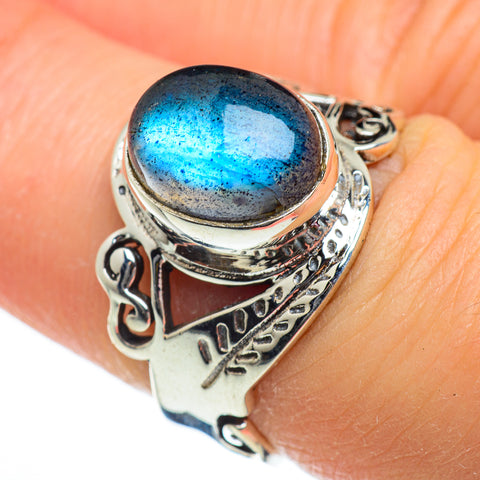 Labradorite Rings handcrafted by Ana Silver Co - RING47025