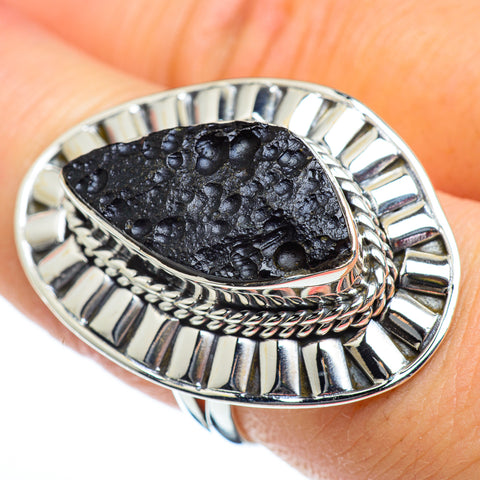 Tektite Rings handcrafted by Ana Silver Co - RING47074