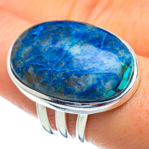 Chrysocolla In Quartz Rings handcrafted by Ana Silver Co - RING47122