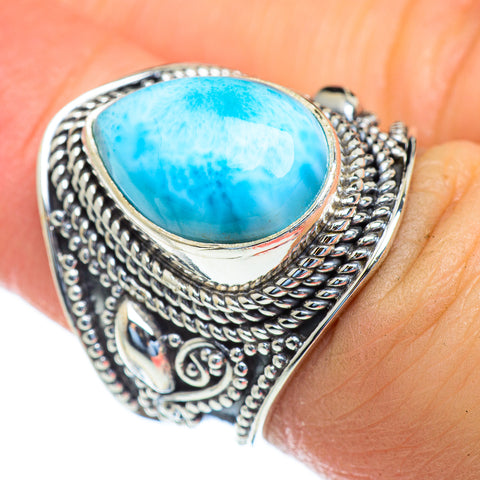 Larimar Rings handcrafted by Ana Silver Co - RING47207