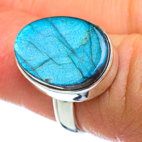 Labradorite Rings handcrafted by Ana Silver Co - RING47237