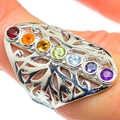 Multi-Stone Chakra Rings handcrafted by Ana Silver Co - RING47262
