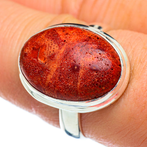 Sponge Coral Rings handcrafted by Ana Silver Co - RING47307