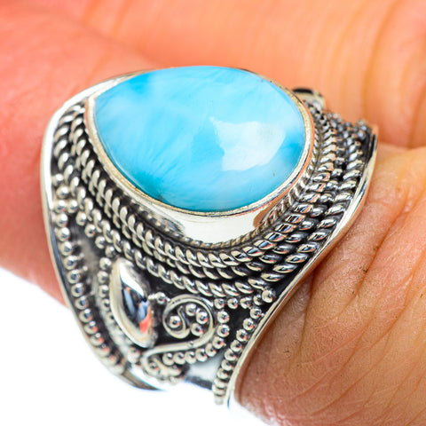 Larimar Rings handcrafted by Ana Silver Co - RING47327