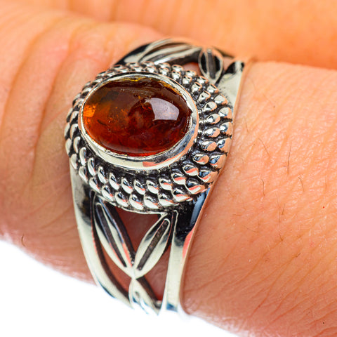 Baltic Amber Rings handcrafted by Ana Silver Co - RING47365