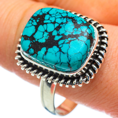 Tibetan Turquoise Rings handcrafted by Ana Silver Co - RING47385